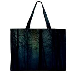 Dark Night Forest Medium Zipper Tote Bag by Brittlevirginclothing