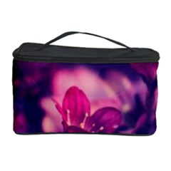 Blurry Violet Flowers Cosmetic Storage Case by Brittlevirginclothing