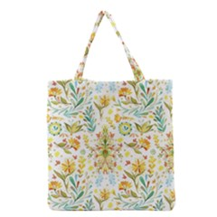 Cute Small Colorful Flower  Grocery Tote Bag by Brittlevirginclothing