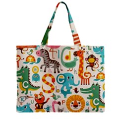 Lovely Small Cartoon Animals Zipper Mini Tote Bag by Brittlevirginclothing