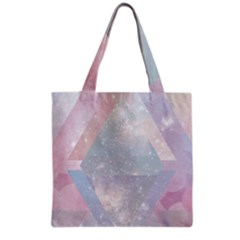 Colorful Pastel Crystal Grocery Tote Bag by Brittlevirginclothing