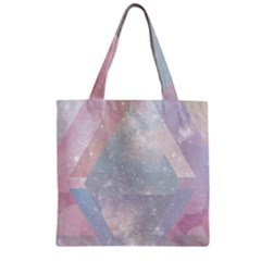 Colorful Pastel Crystal Zipper Grocery Tote Bag by Brittlevirginclothing