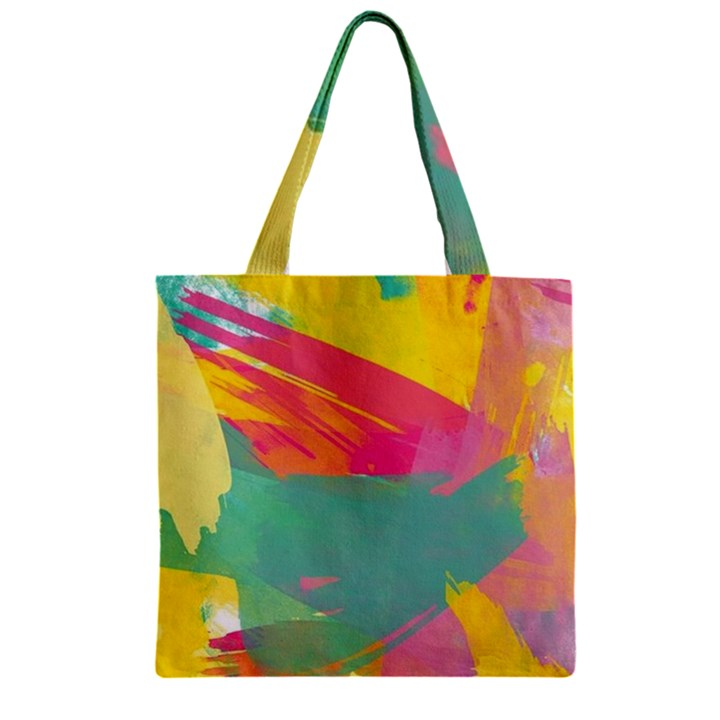 Colorful Paint brush  Zipper Grocery Tote Bag