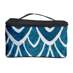 Blue Fish Scales  Cosmetic Storage Case by Brittlevirginclothing