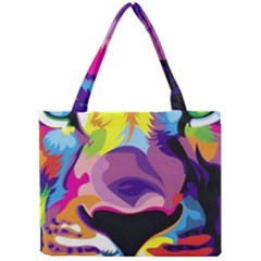 Colorful Lion s Face  Mini Tote Bag by Brittlevirginclothing
