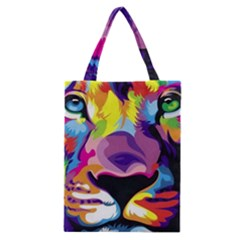 Colorful Lion s Face  Classic Tote Bag by Brittlevirginclothing