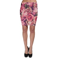 Beautiful Pink Roses  Bodycon Skirt by Brittlevirginclothing