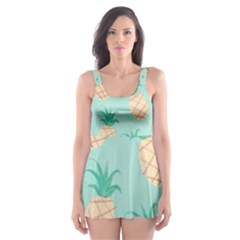 Cute Pineapple Skater Dress Swimsuit by Brittlevirginclothing