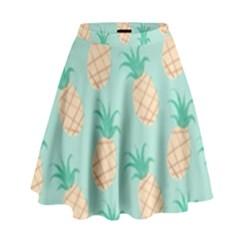 Cute Pineapple High Waist Skirt by Brittlevirginclothing