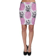 Cute Pink Pineapple  Bodycon Skirt by Brittlevirginclothing