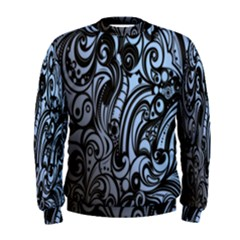 Gray Batik Blue Men s Sweatshirt by Jojostore