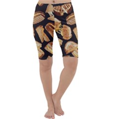 Delicious Snacks Cropped Leggings  by Brittlevirginclothing