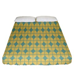 Green Yellow Fitted Sheet (Queen Size)