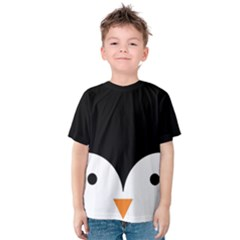 Cute Pinguin Kids  Cotton Tee by Brittlevirginclothing