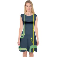 Plumbing Capsleeve Midi Dress by Jojostore