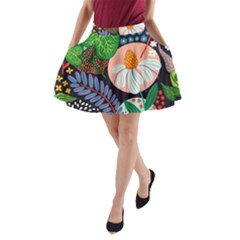 Japanese Inspired  A Line Pocket Skirt by Brittlevirginclothing