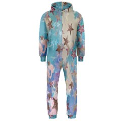 Pastel Stars Hooded Jumpsuit (men)  by Brittlevirginclothing