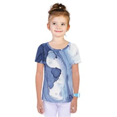 Paint in water Kids  One Piece Tee by Brittlevirginclothing