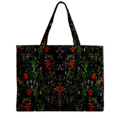 Detail Of The Collection s Floral Pattern Zipper Mini Tote Bag by Jojostore