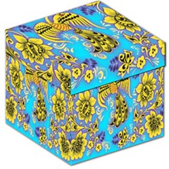 Khokhloma Birds Flowers Storage Stool 12   by Jojostore