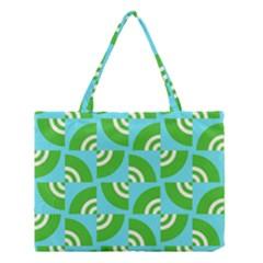 Easy Peasy Lime Squeezy Green Medium Tote Bag by Jojostore