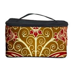 European Fine Batik Flower Brown Cosmetic Storage Case by Jojostore