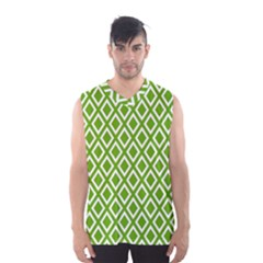 Diamonds Green White Men s Basketball Tank Top by Jojostore