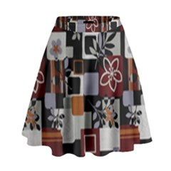 Flower 1 High Waist Skirt by Jojostore