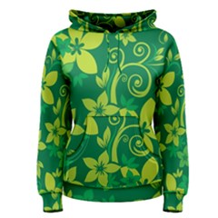 Flower Yellow Green Women s Pullover Hoodie by Jojostore