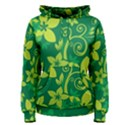 Flower Yellow Green Women s Pullover Hoodie View1