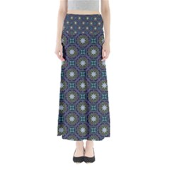 Flower Star Gray Maxi Skirts by Jojostore