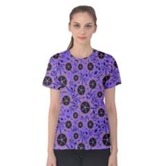 Flower Floral Purple Women s Cotton Tee by Jojostore