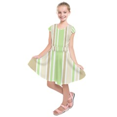 Gray Green Kids  Short Sleeve Dress by Jojostore