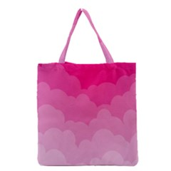 Lines Pink Cloud Grocery Tote Bag