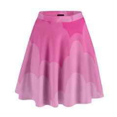 Lines Pink Cloud High Waist Skirt by Jojostore