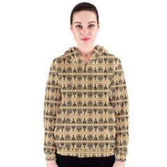 Greek Seamless Women s Zipper Hoodie by Jojostore