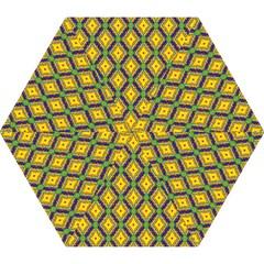 Morocco Flower Yellow Mini Folding Umbrellas