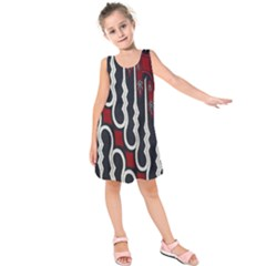 Batik Jogja Red Black Kids  Sleeveless Dress