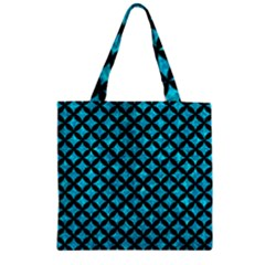 Circles3 Black Marble & Turquoise Marble (r) Zipper Grocery Tote Bag by trendistuff