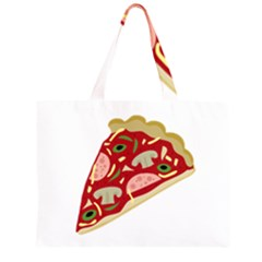 Pizza Slice Zipper Large Tote Bag by Valentinaart