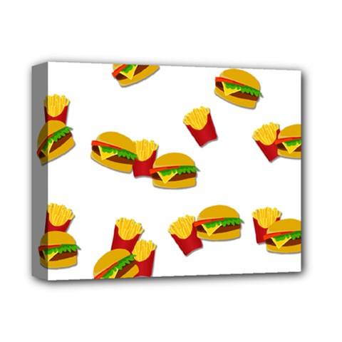 Hamburgers And French Fries  Deluxe Canvas 14  X 11  by Valentinaart