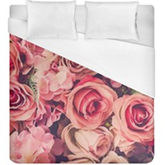 Beautiful Pink Roses Duvet Cover (king Size) by Brittlevirginclothing