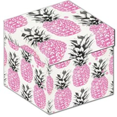 Pink Pineapple Storage Stool 12   by Brittlevirginclothing