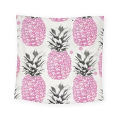 Pink Pineapple Square Tapestry (small) by Brittlevirginclothing