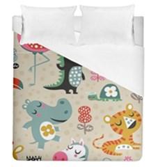 Cute cartoon Duvet Cover (Queen Size) by Brittlevirginclothing