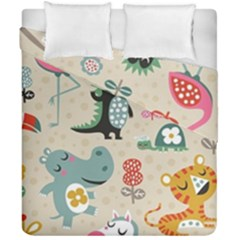 Cute Cartoon Duvet Cover Double Side (california King Size) by Brittlevirginclothing