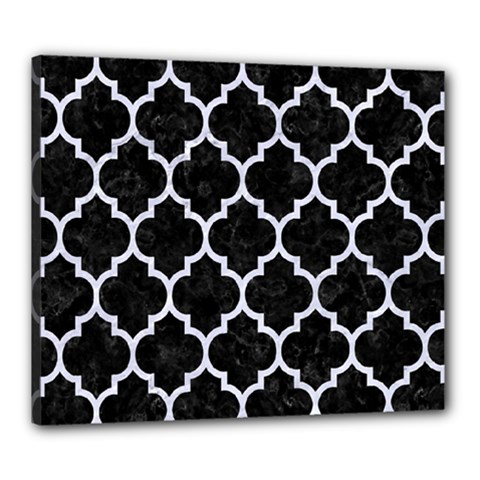 Tile1 Black Marble & White Marble Canvas 24  X 20  (stretched) by trendistuff