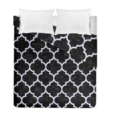 Tile1 Black Marble & White Marble Duvet Cover Double Side (full/ Double Size) by trendistuff