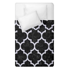 Tile1 Black Marble & White Marble Duvet Cover Double Side (single Size) by trendistuff