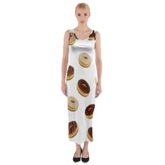 Donuts pattern Fitted Maxi Dress by Valentinaart
